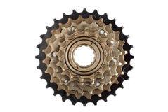 Кассета велосипеда задняя, звезды скоростей стоковые изображения rf