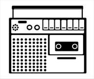 кассетный магнитофон на белизне Стоковые Изображения RF