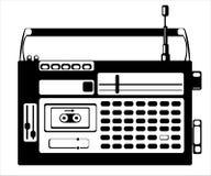 кассетный магнитофон на белизне Стоковое Фото