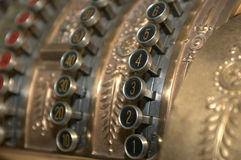 кассовый аппарат ретро Стоковое Изображение RF