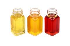 Касторовое масло, масло плода шиповника и масло мустарда - хорошее для здоровья Стоковые Фотографии RF