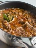кастрюлька соуса ragu Стоковое Изображение RF