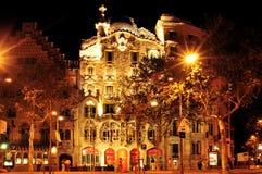 Касы Batllo, Барселона, Испания Стоковое Фото