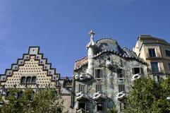 Касы Batllo, Барселона Стоковая Фотография