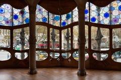 Касы batllo antonio украсили окна интерьера ga Стоковое Фото
