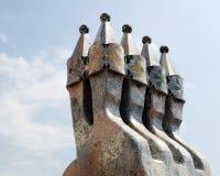 Касы Battlo, Барселона, Испания стоковая фотография rf