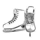 Катается на коньках иллюстрация Стоковые Фото