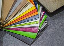 Каталог образцов материалов Материал отделкой Стоковые Фотографии RF
