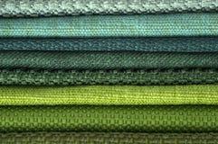 Каталог пестротканой ткани от предпосылки текстуры ткани рогожки, текстуры silk ткани, предпосылки текстильной промышленности Стоковое Изображение