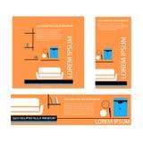 Каталог продукта крышки для дизайна интерьера иллюстрация штока