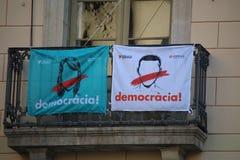 Каталонская пропаганда референдума Стоковые Изображения