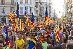 Каталонское ралли независимости Стоковая Фотография