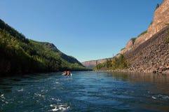Катамараны в каньоне Kyzyl-Khem реки Стоковые Изображения RF