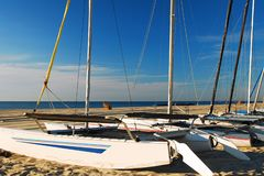 Катамараны на пляже, стоковое фото rf