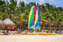Катамаран на карибском море Мексики Стоковое Фото