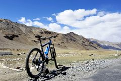 Катание велосипеда спорт на Manali Стоковое Изображение RF