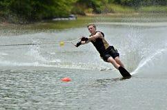Катание на водных лыжах мальчика Стоковые Фотографии RF