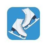 Катание на коньках обувает значок Стоковое фото RF