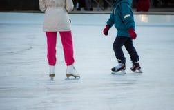 Катание на коньках Стоковые Фото