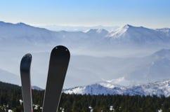катание на лыжах горы Стоковое Изображение