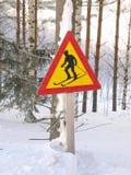 катание на лыжах знака Стоковые Фото