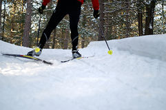 катание на лыжах конька Стоковое Изображение RF