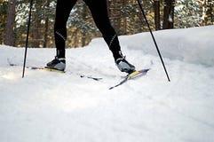 катание на лыжах конька Стоковое Фото