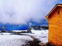 катание на лыжах курорта Стоковая Фотография