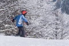 катание на лыжах малыша Стоковое Изображение RF
