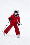 катание на лыжах мальчика Стоковое Изображение RF