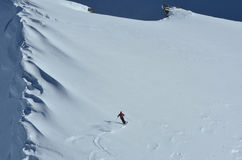 катание на лыжах порошка стоковые изображения
