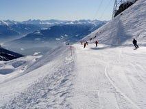 катание на лыжах потехи Стоковые Изображения