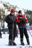 катание на лыжах семьи Стоковая Фотография RF
