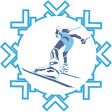 катание на лыжах спортсмена иллюстрация штока