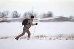 катание на лыжах страны перекрестное наслаждаясь Стоковые Фото