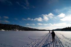 катание на лыжах страны перекрестное Стоковое Фото