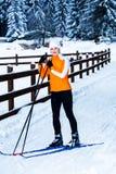 катание на лыжах страны перекрестное Стоковое Изображение RF