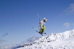 катание на лыжах фристайла Стоковое Изображение RF