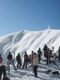 катание на лыжах стоковая фотография
