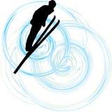 катание на лыжах бесплатная иллюстрация