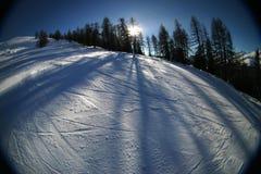 катание на лыжах 3 действий Стоковая Фотография