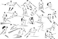 катание на лыжах Стоковое Изображение RF