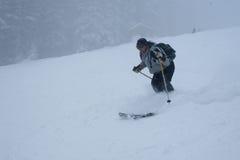 катание на лыжах Стоковая Фотография RF