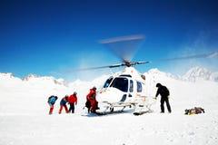 катание на лыжах heli Стоковое Изображение