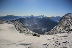 катание на лыжах paganella Стоковое фото RF