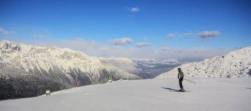 катание на лыжах paganella Стоковые Фотографии RF
