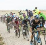 Катание на дороге булыжника - Тур-де-Франс 201 Nairo Quintana Стоковое фото RF
