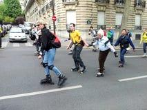 Катание на ролике в Париже Стоковые Изображения