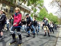Катание на ролике в Париже Стоковая Фотография