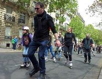 Катание на ролике в Париже Стоковая Фотография RF